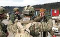 Marines observe Georgian's Charlie Company 23rd LIB raid enemy insurgents at rehearsal exercise DVIDS528994.jpg