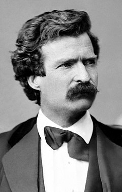 Mark Twain photo portrait, Feb 7, 1871, cropped Repair