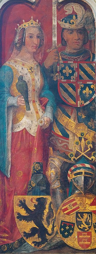 Philip the Bold - Philip the Bold and his wife
