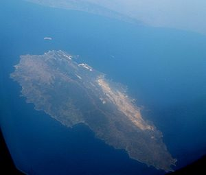 Marmara Island - Aerial view of the island