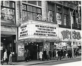 Combat Zone, Boston - Image: Marquee at State Theatre on Washington Street (11191558024)