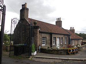 Marriage in Scotland - Marriage and Toll House at Coldstream Bridge, on the Scottish side; the river forms the border with England at this point.