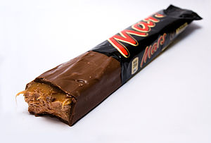 English: Photograph of a Mars bar.