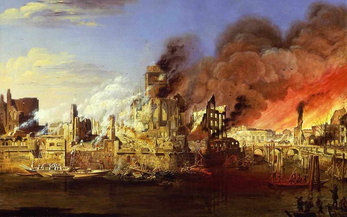 Martens, Ditlev - The Great Fire of Hamburg on May 5, 1842 - Museum für Hamburgische Geschichte.jpg
