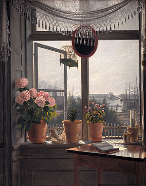 View from the Artist's Window - View from the Artist's Window by Martinus Rørbye 1825