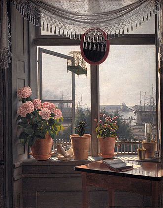 1825 in art - Rørbye – View from the Artist's Window