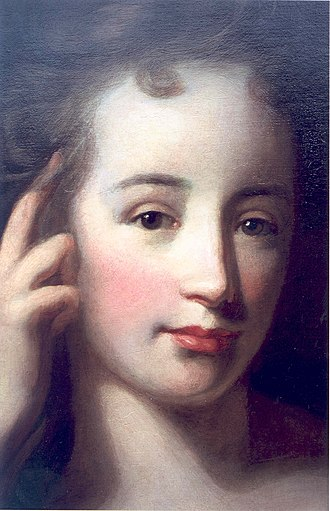 Godfried Schalcken - Mary Stanhope, later Viscountess Fane, detail of a portrait signed and dated Schalken, 1702. The prime version of this painting is at Chevening, her brother, James Stanhope's house in Kent.