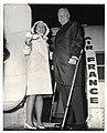 Mary Collins and Mayor John F. Collins board an Air France air plane (13242550075).jpg