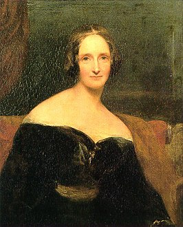 Portret van Mary Shelley rond 1840 door Richard Rothwell.