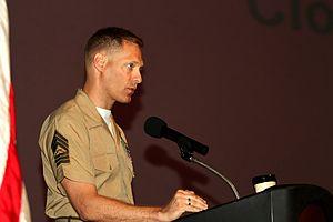 Brad Colbert - Colbert giving a speech in September 2012