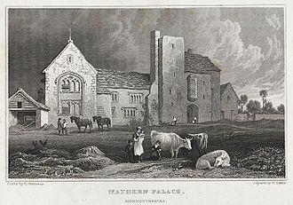 Mathern Palace - Mathern Palace, c.1830