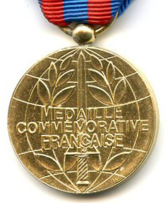 French commemorative medal - Reverse of the French commemorative medal