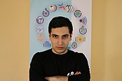 Mehman at Bakuriani WikiCamp 2019.jpg