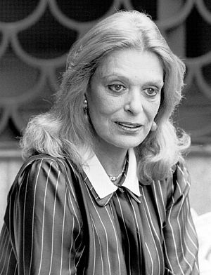 Portrait photograph of Melina Mercouri. Stockh...