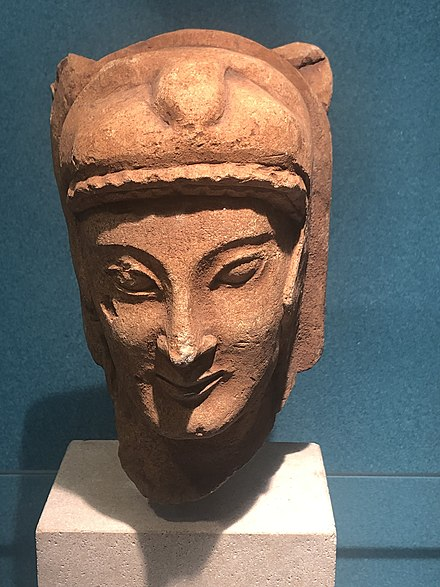 Bust of Melqart at the National Museum of Denmark Melqart god of the Phoenician city of Tyre.jpg