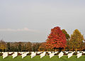 Memorial crosses, Madingley American cemetery - geograph.org.uk - 1748719.jpg