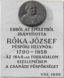 Memorial tablet Róka József.jpg