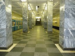 Metro sokolniki columns