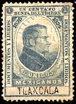 Mexico 1876 documentary revenue 10A Tlaxcala.jpg