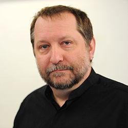 Michael Everson - Wikimedia 2011 hackathon in Berlin 087.jpg