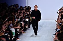 e3bfb4e6d212 Michael Kors at the conclusion of his Spring Summer 2014 show at New York  Fashion Week