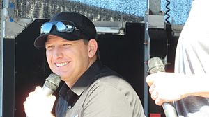 Michael McDowell (racing driver) - McDowell at Daytona International Speedway in 2017