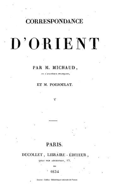 File:Michaud - Poujoulat - Correspondance d'Orient, 1830-1831, tome 5.djvu