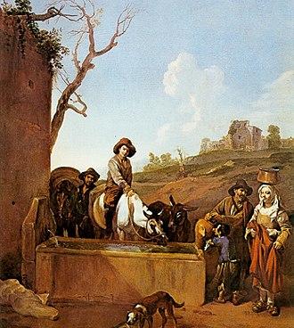 Michelangelo Cerquozzi - The trough