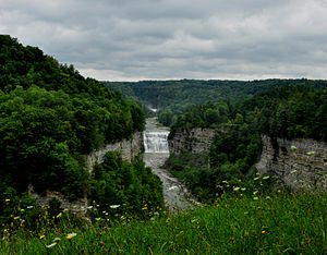Letchworth State Park - Middle Falls of the Genesee River at Letchworth State Park