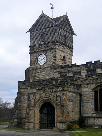Middleton, Greater Manchester - The Church of St Leonard is a Norman, Grade I listed building.