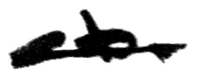 Takeo Miki's signature