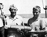 Million pound round fired by USS Edson (DD-946) at Vietnam in 1968.jpg