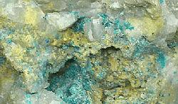 grönt mineral malakit