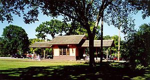 Minnehaha Depot with trees.JPG
