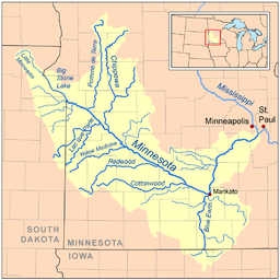 Minnesota River Wikipedia - Minnesota rivers map