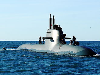 Italian submarine Scirè (S 527) - Scirè underway, 1 December 2009