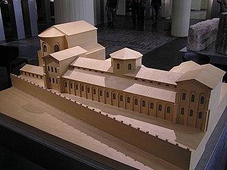 Praetorium - Model of the praetorium in Roman Cologne.