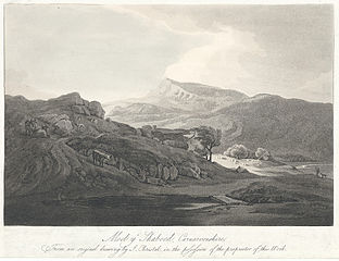 Moel y Shaboed, Carnarvonshire : From an original drawing by J. Christal, in the possession of the proprietor of this work