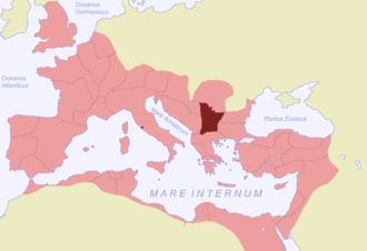 Moesia - Moesia Superior (highlighted).