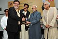 """Mohd. Hamid Ansari presented the 'Nai Duniya Awards for Excellence in Urdu Journalism"""" to outstanding media persons in Urdu Journalism, at a function, in New Delhi. The Union Minister for Civil Aviation.jpg"""