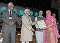 Mohd. Hamid Ansari presented the J&K Young Scientist award-2010 to the Young Researcher, at the 8th J&K Science Congress, at Kashmir University, in Srinagar, Jammu and Kashmir. The Governor of Jammu and Kashmir (1).jpg