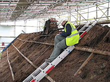 excavation of the thatch at moirlanich longhouse - Thatched Rood