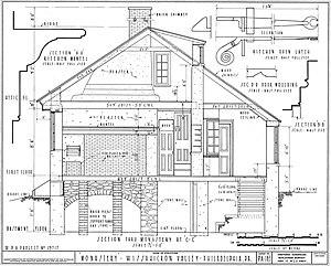 The Monastery (Philadelphia, Pennsylvania) - Image: Monastery Side Plans