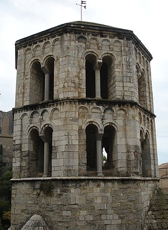 Sant Pere de Galligants - Detail of the bell tower.