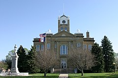 The courthouse in Albia is on the NRHP