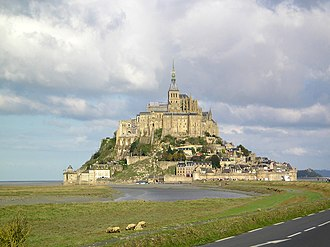 Minas Tirith - Mont Saint-Michel in Normandy, France was the real life inspiration for the design of Minas Tirith in the film.