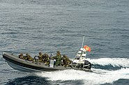 Montenegrian Military inflatable boat
