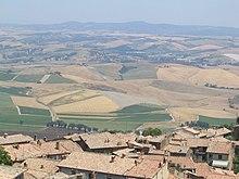 Vista della Val di Chiana senese da Montepulciano