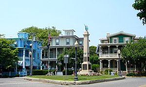 Soldier's and Sailors Monument in Cape May, Ne...
