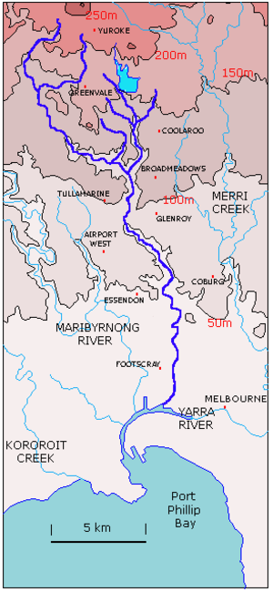 Moonee Ponds Creek - Map of Moonee Ponds Creek